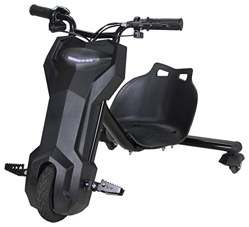 Actionbikes Motors Kinder Elektro DRIFTSCOOTER 360 Scooter Dreirad Drift Scooter 250 Watt (schwarz)