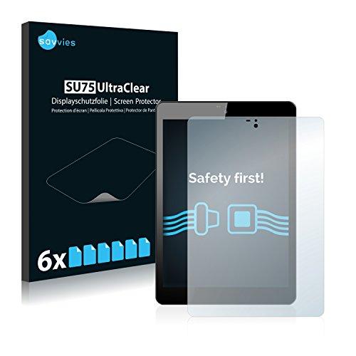 Savvies Schutzfolie kompatibel mit Odys Connect 8+ (6 Stück) - ultraklare Bildschirmschutz-Folie