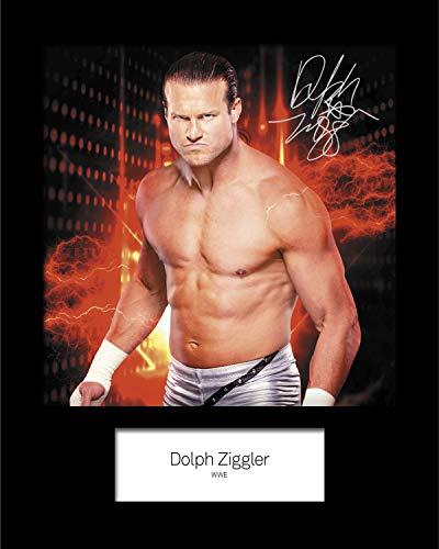 FRAME SMART Dolph Ziggler - WWE #2 | Signierter Fotodruck | 10x8 Größe passt 10x8 Zoll Rahmen | Maschinenschnitt | Fotoanzeige | Geschenk Sammlerstück (Ziggler Wwe-wrestler Dolph)