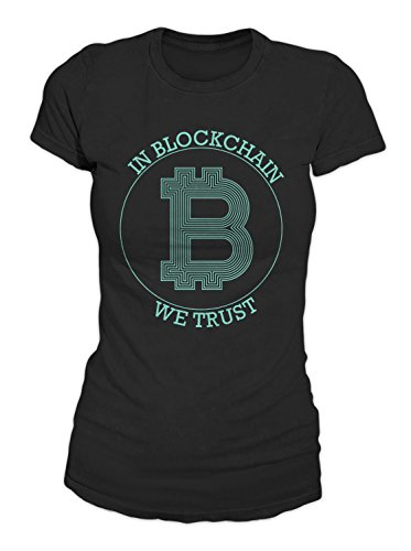 RiotBunny in Blockchain We Trust Bitcoin Cryptocurrency BTC Ltc Digital Currency T-Shirt Damen Schwarz X-Large (T-shirt Mom Adult)