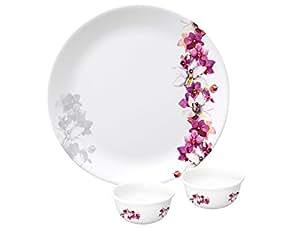 Servewell Pink Venise Urmi Buffet Set, 18-Pieces