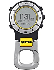 Spovan 3ATM Impermeable elements II Multifonction Sports de plein air de poche Montre Barometre Altimetre Thermometre Boussole Chronometre Jaune + blanc