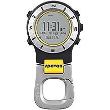 Altimetro - Spovan 3ATM impermeable Elementum II de multi-funcion de deportes al aire libre Handheld del reloj Altimetro compas del termometro Cronometro Amarillo + Blanco