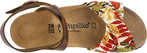 Papillio Sandales pour femme FLOWER FRILL BROWN
