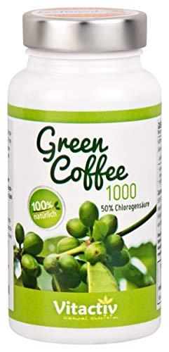 GREEN COFFEE 1000 - Abnehmen mit der Kraft der grünen Kaffeebohne. Für die Kaffee Diät (60 Kapseln)