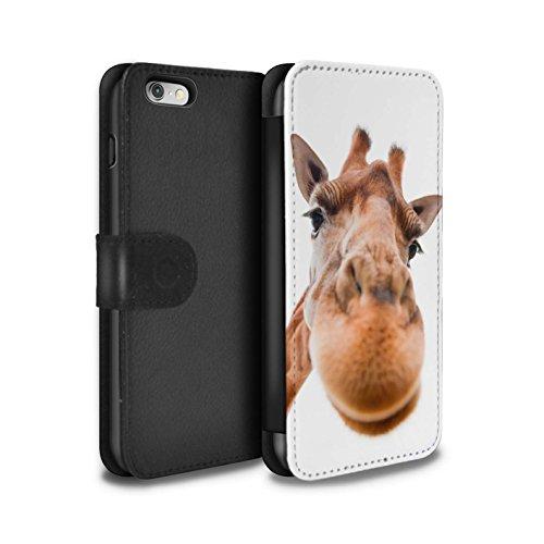 Stuff4 Coque/Etui/Housse Cuir PU Case/Cover pour Apple iPhone 5/5S / Chien somnolent Design / Animaux comiques Collection Museau de giraffe