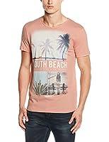 TOM TAILOR Denim Herren T-Shirt Summer Photoprint Crewneck