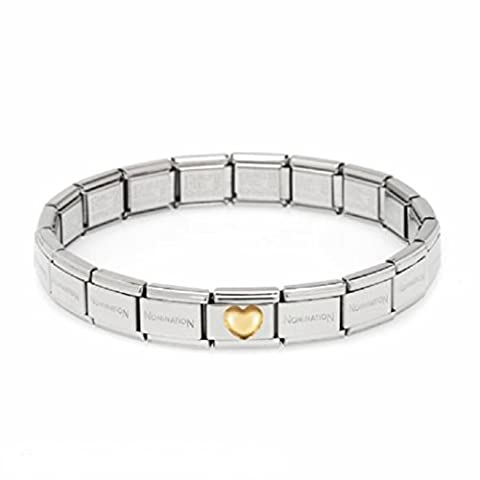 Nomination Starter Set Bracelet 19 cm Heart Classic Stainless Steel Curved