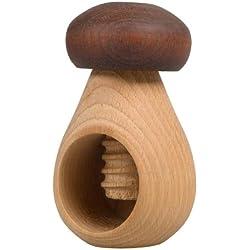 Hofmeister Holzwaren, Nutcracker MUSHROOM, with thread, made of beech wood, oiled, L100xD65 mm, 20832 by Hofmeister
