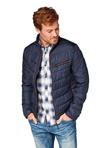 TOM TAILOR für Männer Jacken & Jackets Leichte Steppjacke Knitted Navy, XXL