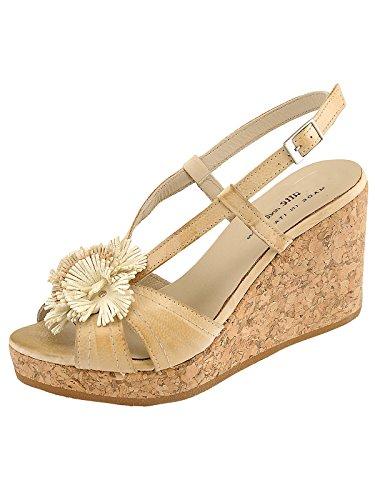 Marion Spath , chaussures compensées femme Beige - Crème