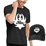 Photo de SOTTK Homme T- T-Shirt Polos et Chemises, Hank Williams Jr Men Fashion Tshirt and Caps Combination Black par SOTTK