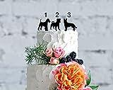 Kuchenaufsatz für Hundekuchen, Silhouette mit Hundemotiv, für Hochzeit, Kuchendekoration für Hunde, Geburtstag, Silhouette für Hochzeit
