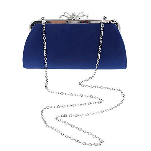 Damara® Schleife-Verschluss Damen Flauschig Clutch Abendtasche Rosa