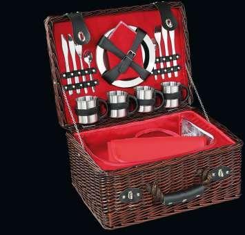 Cilio 155884 Picknickkorb Luino (Salz Und Pfeffer Und Serviette)