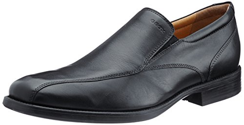 Geox  U FEDERICO Q, Chaussures de ville à lacets pour homme Schwarz (BLACKC9999)