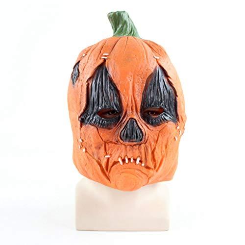 Maske Deluxe Terror Ein Ghost Chasing Maske Jumbie Pumpkins Head Latex Spielzeugtier Kopf Maske Für Lustige Halloween-Kostüm