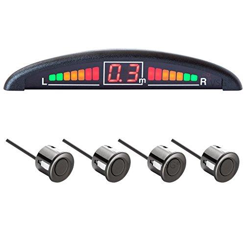 Sistema VSG de ayuda al aparcamiento con pantalla en color y alarma sonora integrada, incluye 4 sensores de diferentes tamaños y diseños