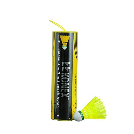 Konex Badminton Plastic Shuttlecocks, High Quality, 6pcs