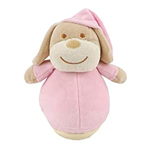 Duffi Baby- Peluche Balanceo Perrito, 100% Poliéster, Color Rosa (Master Baby Home, S.L. 0759-06)