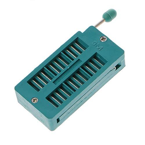 Jenor 16 20 24 28 40 P Pin 2,54 mm grün DIP Test Universal ZIF IC Buchse Schweißtyp