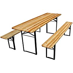 Perel Tisch–mit 2Bänken–200x 60x 76cm