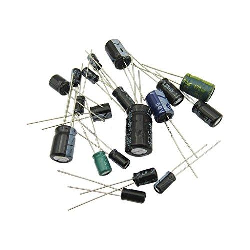 MagiDeal Kit de 120pcs Condensateurs Electrolytiques Assortis 16V-25V-50V