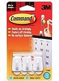 3M Command - Micro ganchos adhesivos para colgar, 3 unidades