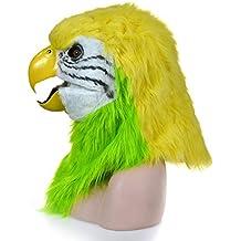 XHD-máscaras para Adultos Boca de función de Moda en Movimiento máscara Peluda Verde Loro