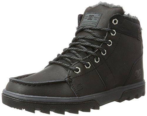DC Shoes Herren Woodland Klassische Stiefel, Schwarz (Black/Black/Grey - Combo), 40 EU (Wildleder-combo Schwarze)