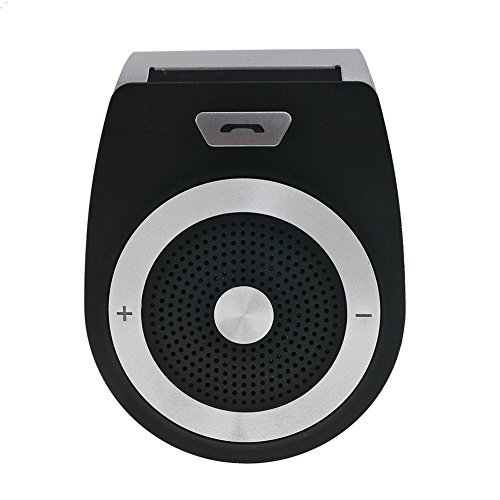 BLSAK Car Speakerphone - Portable Multipoint Wireless Hands-Free Bluetooth 4.1 Sun Visor In-Car Speakerphone A2DP streaming Car Kit for iphone 6/5, Samsung Galaxy S5/S4/ Note 4/3/2, Smartphone Dsp Car Kit