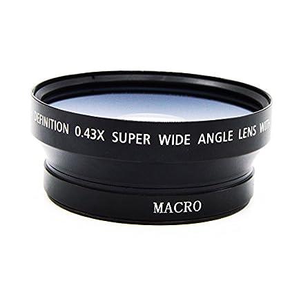 MagiDeal 0.43xLente Gran Angular con Macro para 72mm DSLR Lente de Cámara Refléx