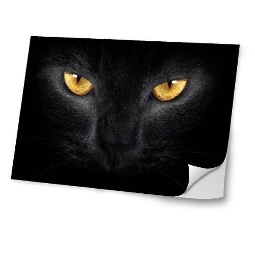 gatos-10034-gato-negro-diseno-mejor-pegatina-de-vinilo-protector-con-efecto-cuero-extraible-adhesivo