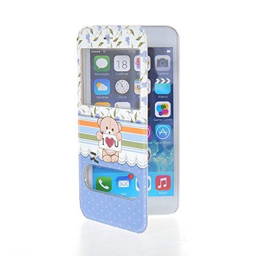 MOONCASE Coque en Cuir Housse de Protection Étui à rabat Case pour Apple iPhone 6 Plus A18183