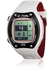 A-Rival GW01 Montre GPS de golf Qaddy blanc, noir, rouge foncé