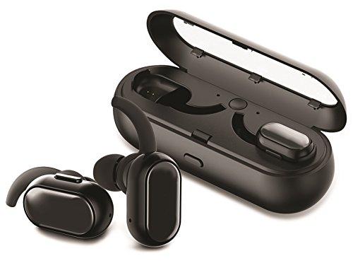 gabbagoods 813085025246truebuds, wirklich Wireless Bluetooth In-Ear, Geräuschunterdrückung/Schweiß beständig Headset, Ultra leichtes Kabelloser Workout Kopfhörer mit Ladekabel pod- schwarz (Kabelloser Kopfhörer Für Läufer)