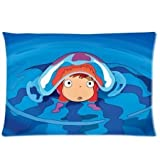 Poesia Smile Of Cherry Goldfish Princess Ponyo Pillow Case Pet Cover Ponyo Pillowcase 20X30(two sides)