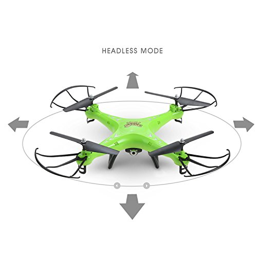 Holy Stone HS110 FPV Drone with 720P HD Live Video Wifi Camera 2.4GHz 4CH 6-Axis Gyro RC Quadcopter with Altitude Hold, Gravity Sensor and Headless Mode Function RTF, Green