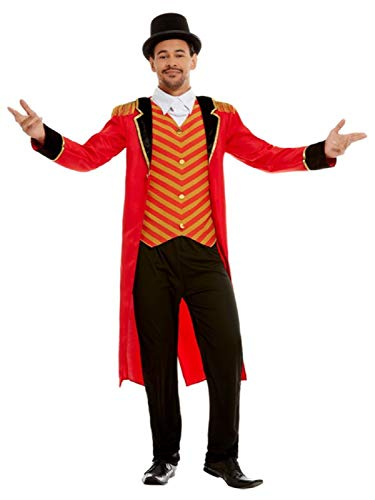 Circus Performer Kostüm - Fancy Me Herren Rotes Deluxe Ringmaster Showman Circus Performer Karneval Film Kostüm Kostüm Kostüm Outfit