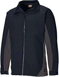 """Dickies JW84955 NGYL Size Large """"Maywood"""" Softshell Jacket - Navy Blue/Grey"""