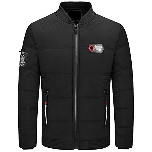 0f1ef929e3eaaf Xmiral Herren Daunenjacke Herbst Winter Pure Color Pullover Langarm Dicke  Outwear Jacke (L