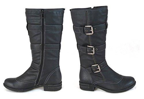 SKO'S, Bottes pour Femme - Black (11118-2)