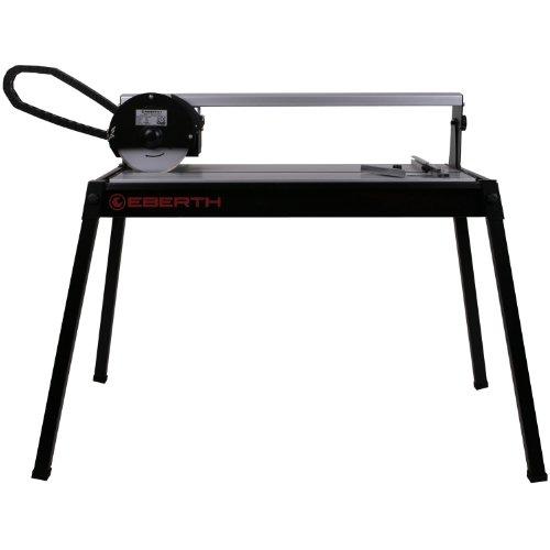 EBERTH 620 mm Fliesenschneider elektrische Fliesenschneidemaschine Nassschneider Trennmaschine (0° - 45° stufenlos schwenkbar, 36 mm Schnitttiefe, 2950 U/min, Winkelanschlag, Diamanttrennscheibe, Laser) schwarz