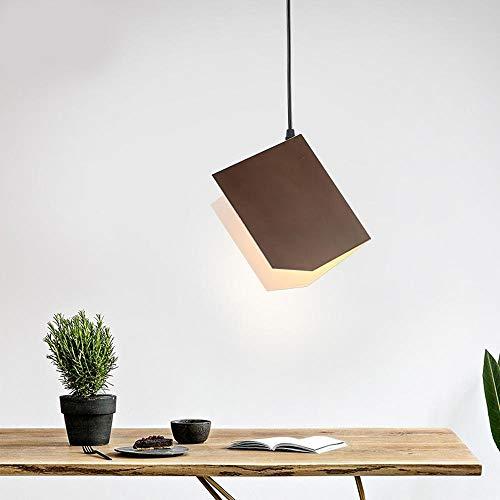 Xiao Yun ☞ Moderne Pendelleuchte Einfache Mode Origami Bücher Form Metall Kronleuchter, braun Wohnzimmer Pendelleuchten for Esszimmer, Kücheninsel, 1 * E27 * 60 Watt ☜ -