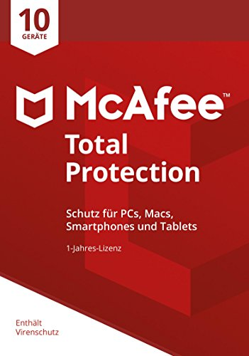 McAfee Total Protection 2018 | 10 Geräte | 1 Jahr | PC/Mac/Smartphone/Tablet | Download