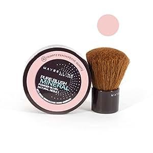 Pure Blush Mineral - Blush poudre libre aux micro-minéraux - Gemey Maybelline - N°40 Pêche Quartz
