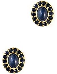 Goldancé - Damen Ohrringe - 925 Silber, vergoldet - echte Edelsteine zur Auswahl