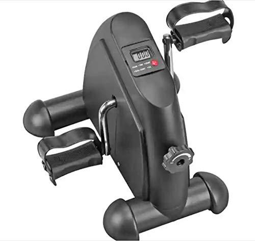 WXX Pedal-Exerciser, Mini-Heimtrainer unter dem Fahrrad Pedal Trainator tragbaren Pedal-Zyklus-Arm und Beinfalken mit LCD-Monitor
