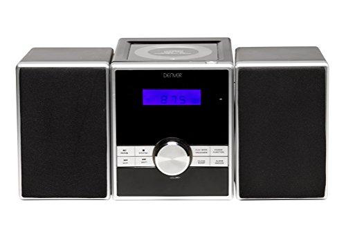 Soundsystem mit PLL-FM Radio, CD-Player und AUX-In, Schwarz/Silber ()