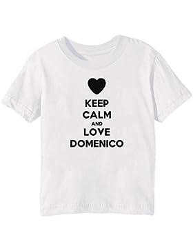 Keep Calm And Love Domenico Bambini Unisex Ragazzi Ragazze T-Shirt Maglietta Bianco Maniche Corte Tutti Dimensioni...
